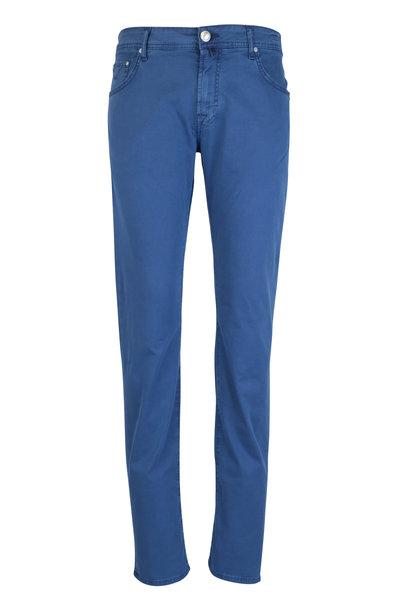 Jacob Cohen - Cobalt Washed Cotton Five Pocket Pant