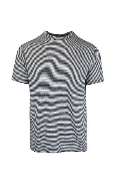 Officine Generale - Black & White Striped T-Shirt