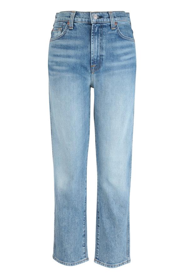 7 For All Mankind Retro Ventura Blvd High-Rise Straight Crop Jean