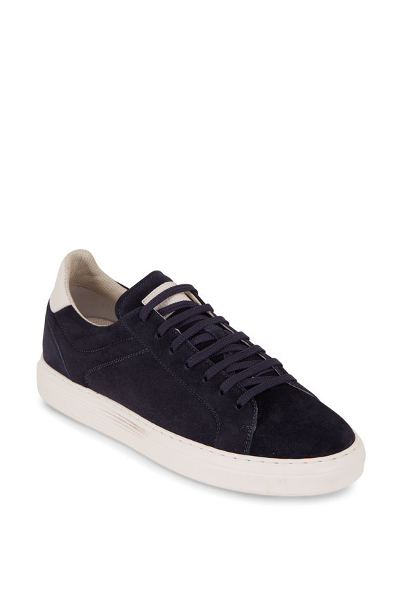 Brunello Cucinelli Navy Suede Air Sole Sneakers