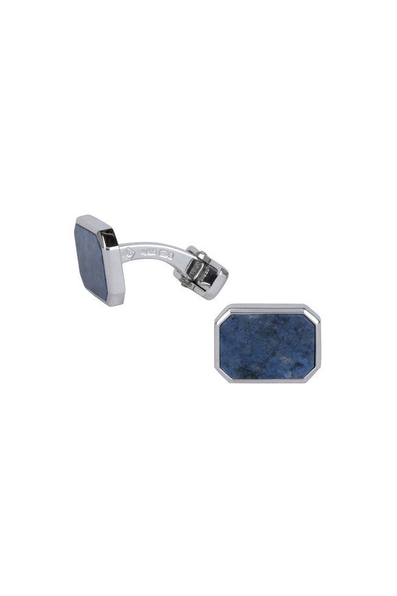 Dunhill Silver Dumororite Cuff Links