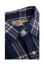 Faherty Brand - Laguna Blue Jetty Plaid Linen Sport Shirt