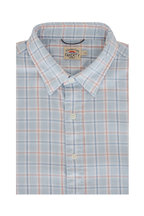 Faherty Brand - Conway Light Blue Plaid Short Sleeve Sport Shirt
