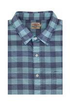 Faherty Brand - Cloud Mint Buffalo Plaid Short Sleeve Sport Shirt