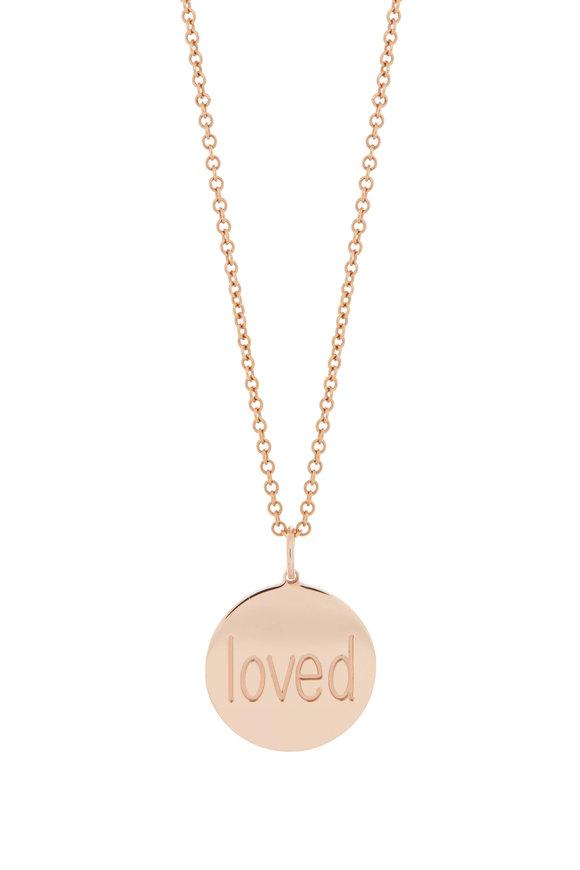 Genevieve Lau Rose Gold Loved Charm Bracelet