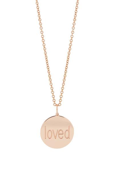 Genevieve Lau - Rose Gold Loved Charm Bracelet