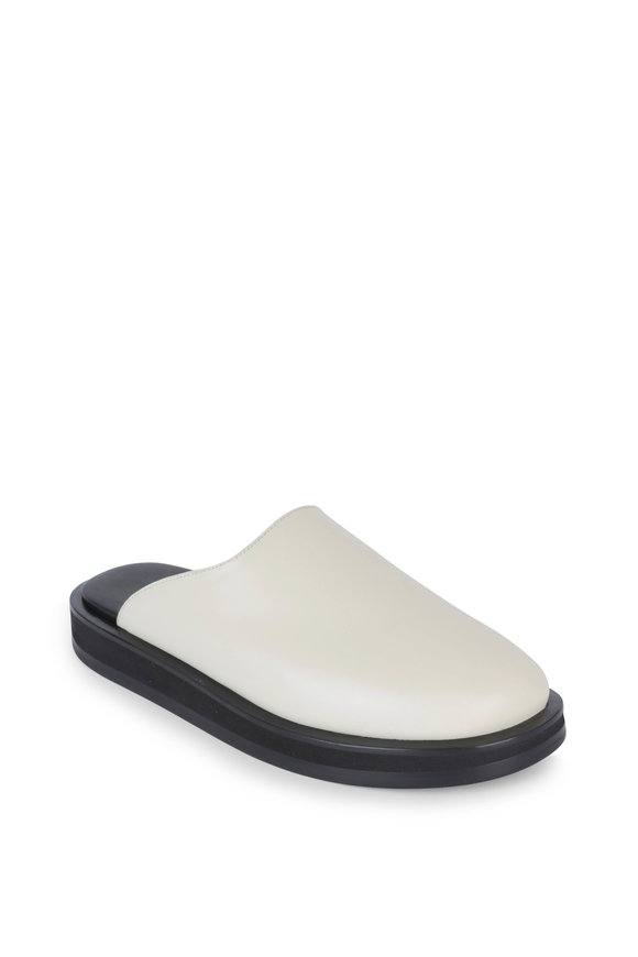 The Row Sabot Ivory Leather Mule