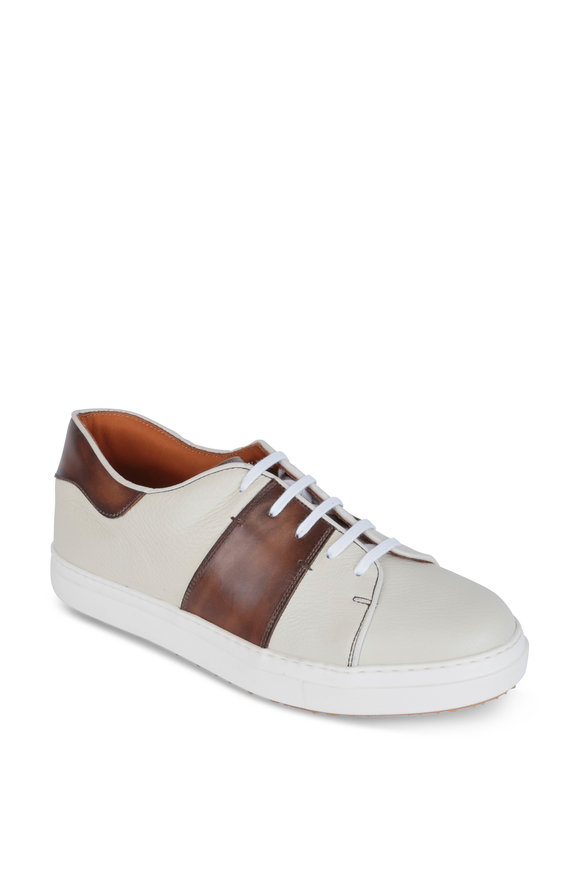 Bontoni Centrale Beige & Brown Leather Sneaker