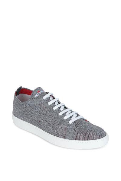 Kiton - Gray Marled Knit Sneaker