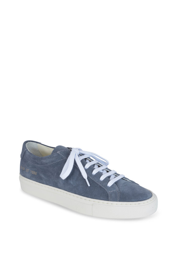 WOMAN by COMMON PROJECTS Achilles Blue Suede Low-Top Sneaker