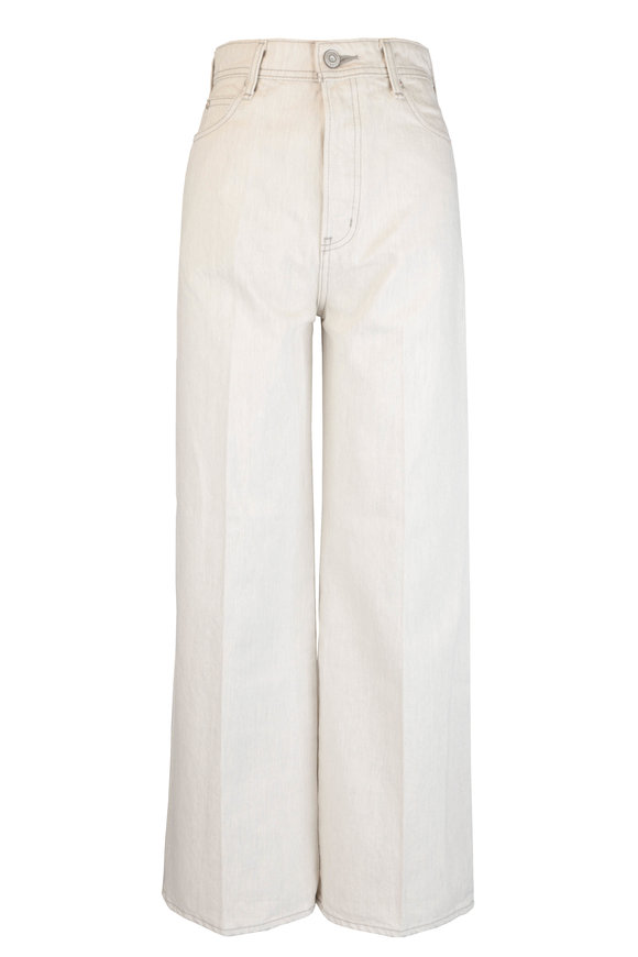 Moussy Hulbert Off White Wide Leg High-Rise Jean