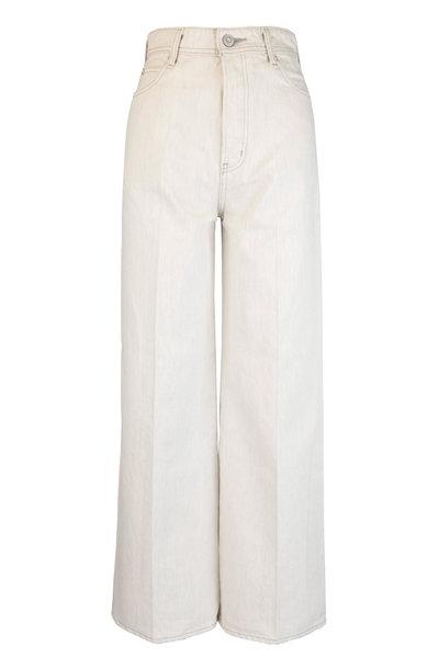 Moussy - Hulbert Off White Wide Leg High-Rise Jean