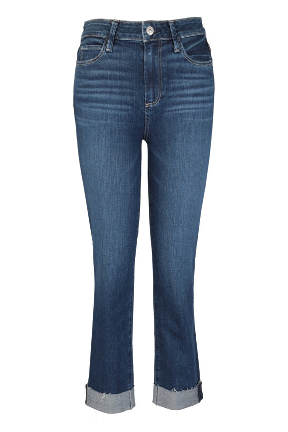 PAIGE Hoxton Shrine Cuffed Crop Jean