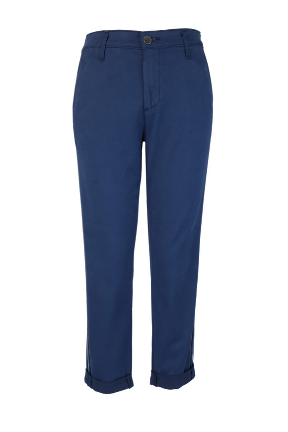 AG Caden Indigo Striped Tailored Trouser