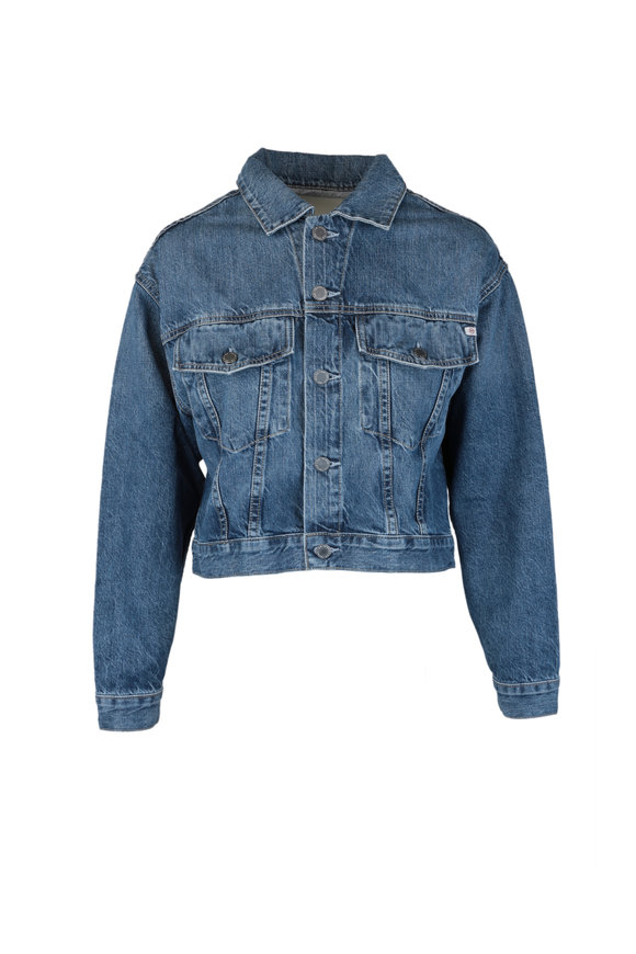 AG Mirah Crooped Trucker Denim Jacket