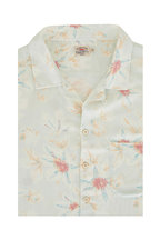 Faherty Brand - Camp Light Green Floral Short Sleeve Sport Shirt