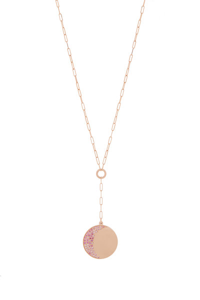 Genevieve Lau - 14K Rose Gold Pink Aid Charm Y Necklace
