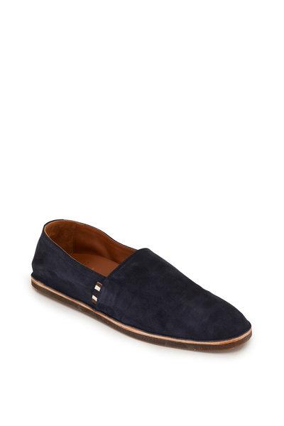 Brunello Cucinelli - Navy Blue Suede Loafer