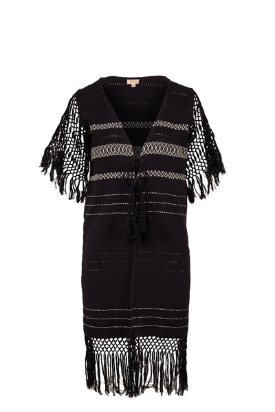 Jaline - Susana Black Handwoven Robe