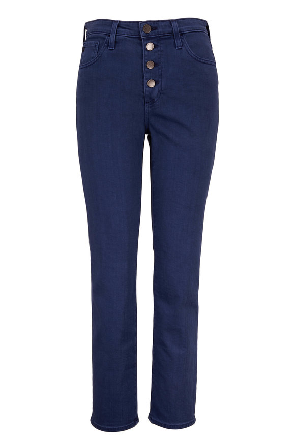 AG The Isabelle High-Rise Button Straight Crop Jean