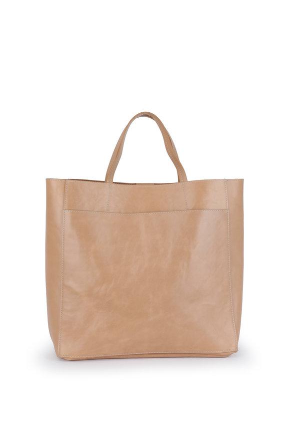 B May Bags Vintage Nude Leather Mini Messenger Bag