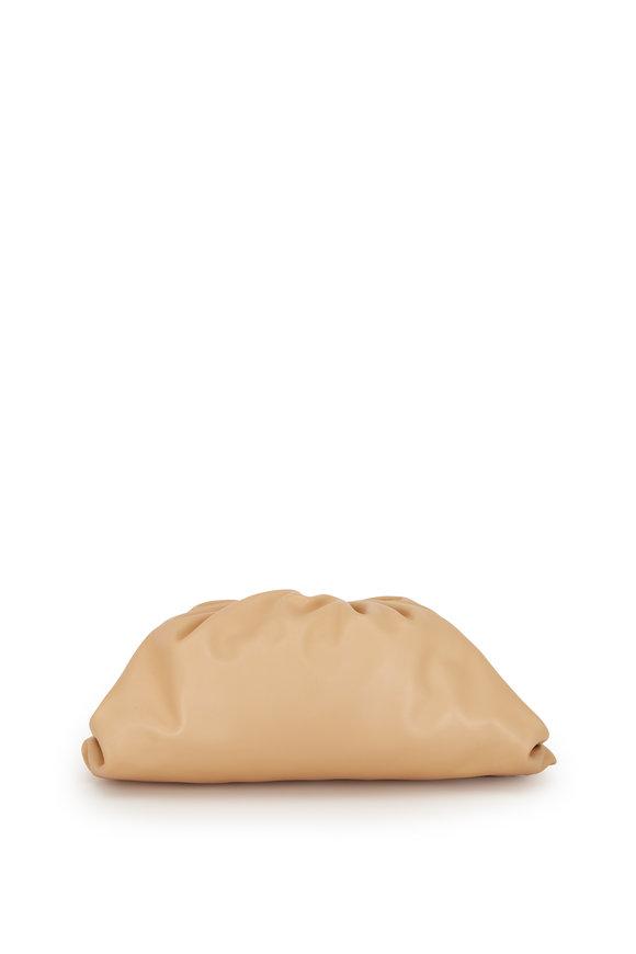 Bottega Veneta The Pouch Nude Leather Large Clutch