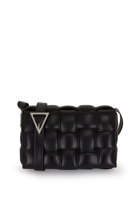 Bottega Veneta Cassette Black Padded Leather Shoulder Bag