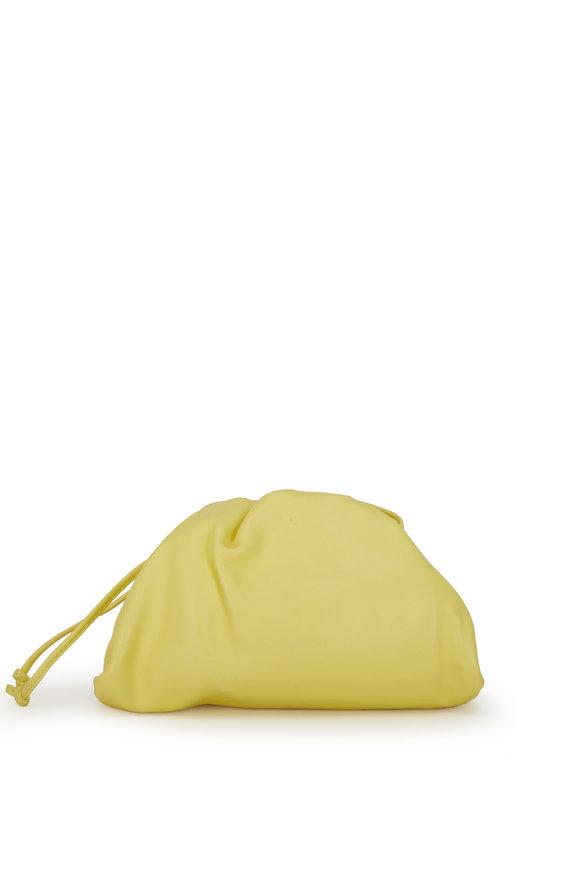 Bottega Veneta The Pouch Yellow Leather Crossbody Bag