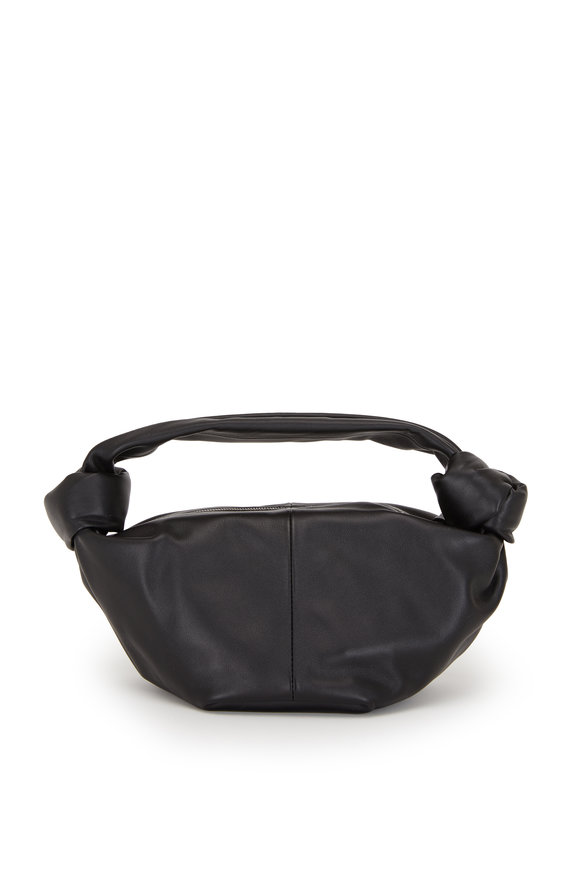 Bottega Veneta Jodie Black Leather Knot Mini Hobo Bag