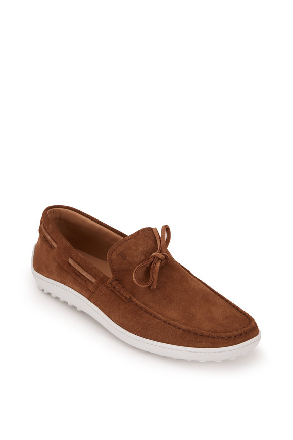Tod's Light Brown Suede Loafer
