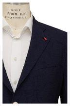 Isaia - Navy Seersucker Two-Button Sportcoat