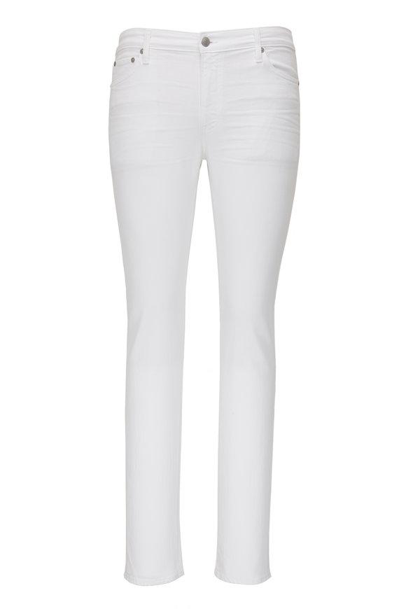 S.M.N. The Finn White Tapered Slim Jean