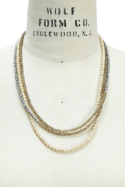 Brunello Cucinelli - Brown Quartz Beaded Necklace