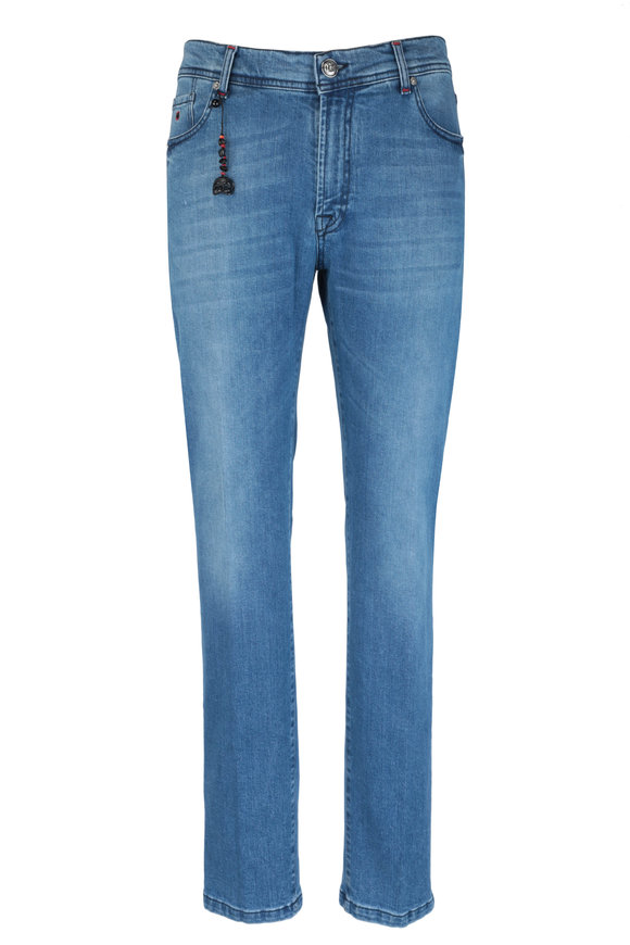 Marco Pescarolo Medium Blue Wash Jean