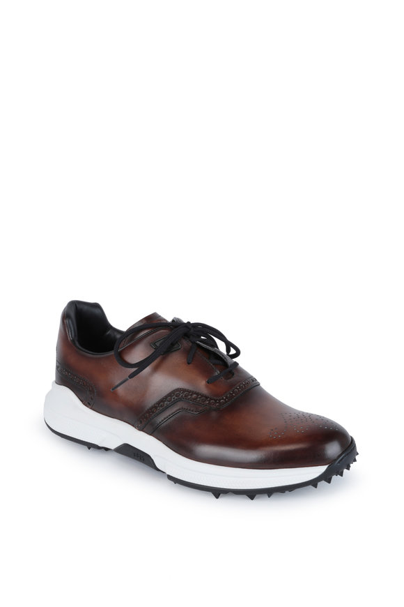 Berluti Swing Brown Leather Golf Shoe