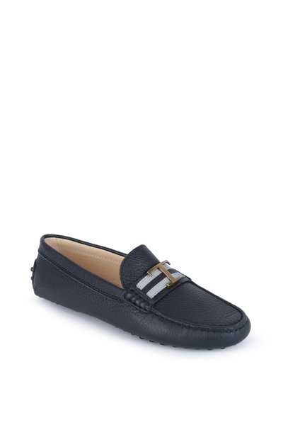 Tod's - Gommini Navy Blue Leather Penny Driver