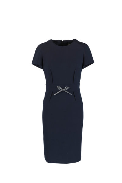 Paule Ka - Marine Blue Sheath Dress