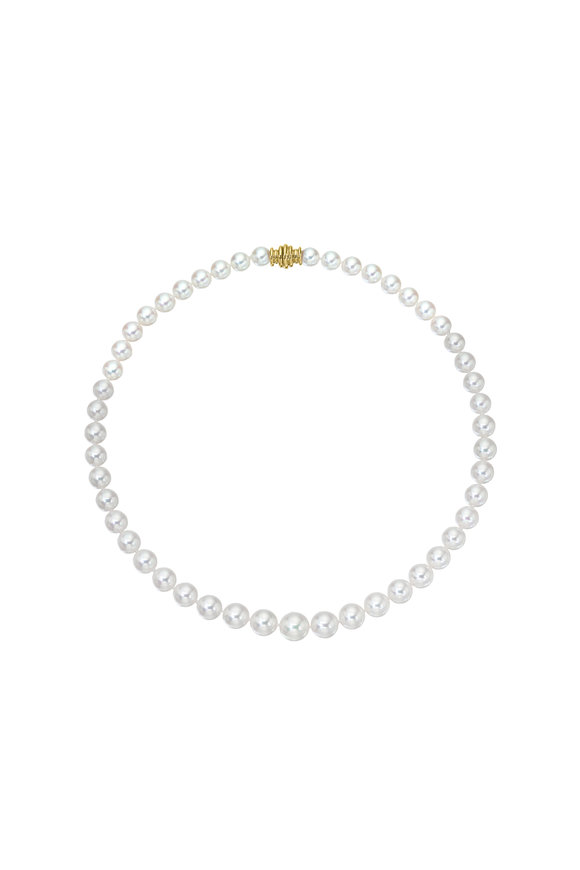 Assael 18KY Small Akoya Pearl Strand Necklace