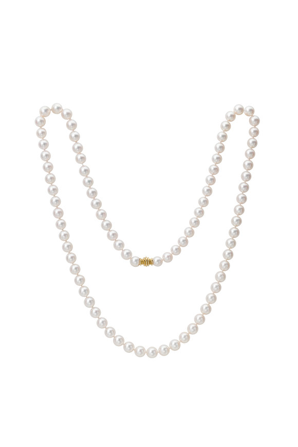 Assael 18KY Akoya Pearl Long Strand Necklace
