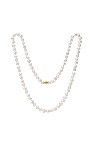 Assael - 18KY Akoya Pearl Long Strand Necklace