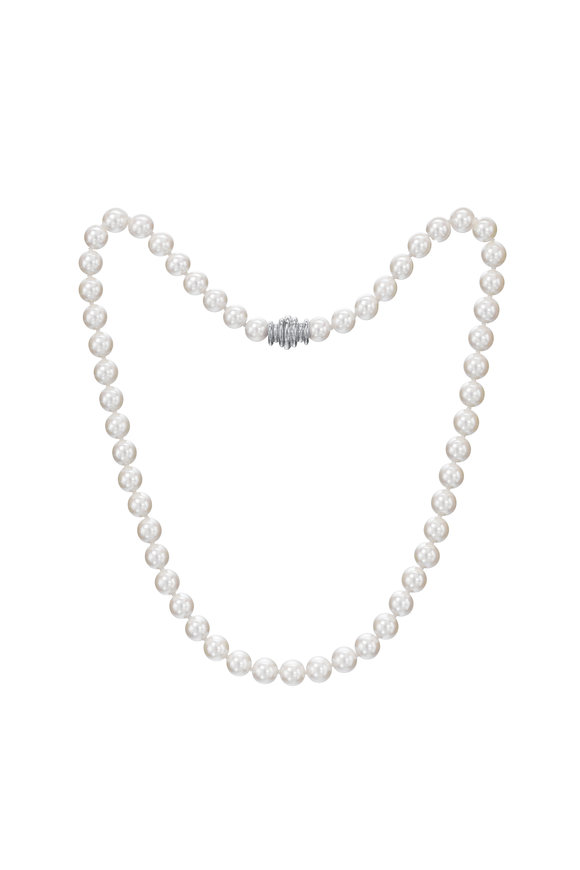 Assael 18KW Akoya Pearl Strand Necklace