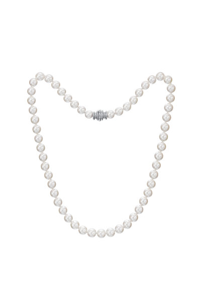 Assael - 18KW Akoya Pearl Strand Necklace