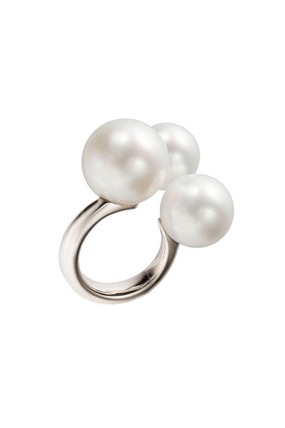 Assael Three Bubble South Sea Pearl Small Ring