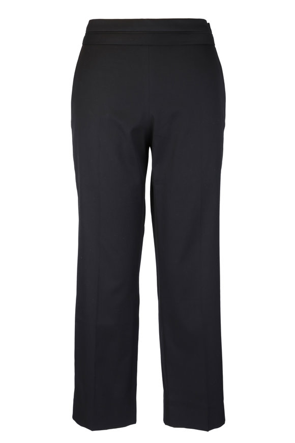 The Row Henry Black Straight Leg Ankle Pant