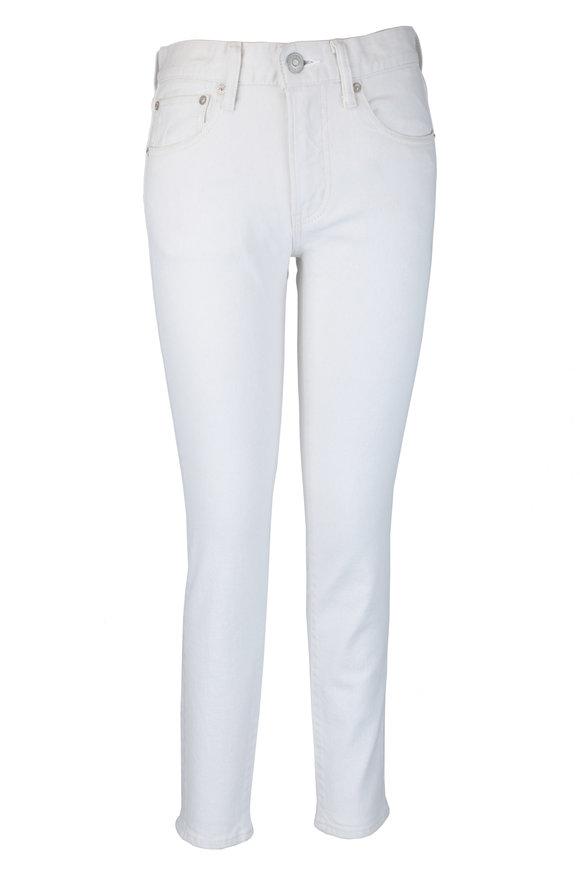 Moussy Marietta White Five Pocket Skinny Jean