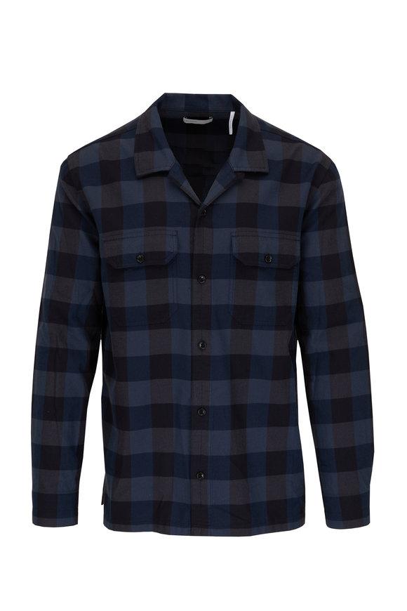 BLDWN Guetes Navy Combo Plaid Sport Shirt