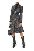Michael Kors Collection - Black Bonded Lace Puff-Sleeve Jacket