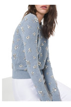 Michael Kors Collection - Stream Melange Cashmere Floral Embellished Sweater