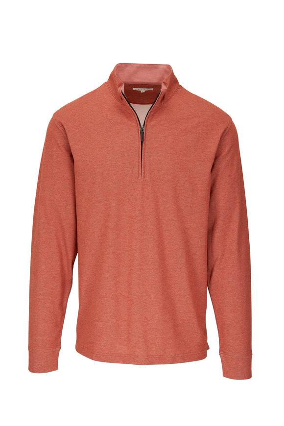 Vastrm Coral Orange Cotton Piqué Polo