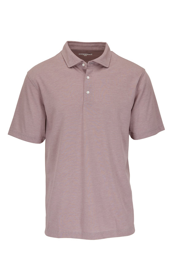 Vastrm Mulberry Striped Sport Fit Polo